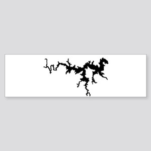 DRAGON {1 black} solid Sticker (Bumper)