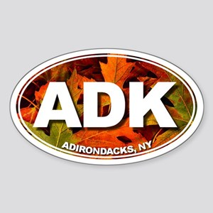 ADK (Fall Leaves) Oval Sticker