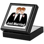Gay Wedding Groom Keepsake Box