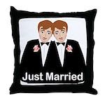 Gay Wedding Groom Throw Pillow