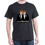Gay Wedding Groom Dark T-Shirt