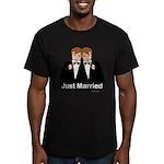Gay Wedding Groom Men's Fitted T-Shirt (dark)