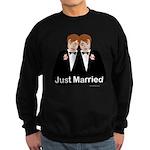 Gay Wedding Groom Sweatshirt (dark)