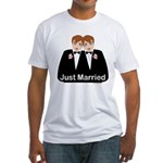 Gay Wedding Groom Fitted T-Shirt