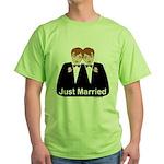 Gay Wedding Groom Green T-Shirt