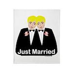 Gay Wedding Throw Blanket