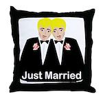 Gay Wedding Throw Pillow