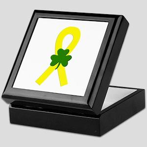 Yellow Shamrock Ribbon Keepsake Box