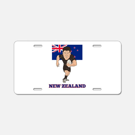 rugby new zealand Aluminum License Plate