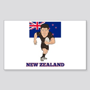 rugby new zealand Sticker (Rectangle)