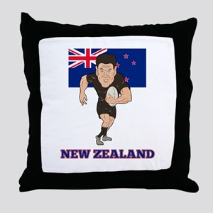 rugby new zealand Throw Pillow