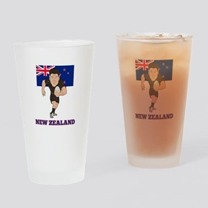 rugby new zealand Drinking Glass