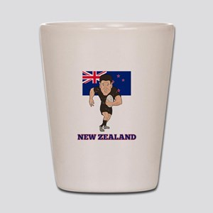 rugby new zealand Shot Glass