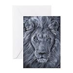 Bold Lion Greeting Card