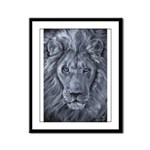 Bold Lion Framed Panel Print