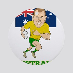 Rugby Player Australia Ornament (Round)