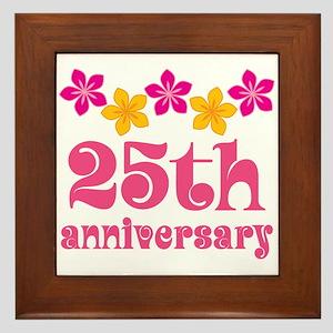 25th Anniversary Gift Cute Framed Tile