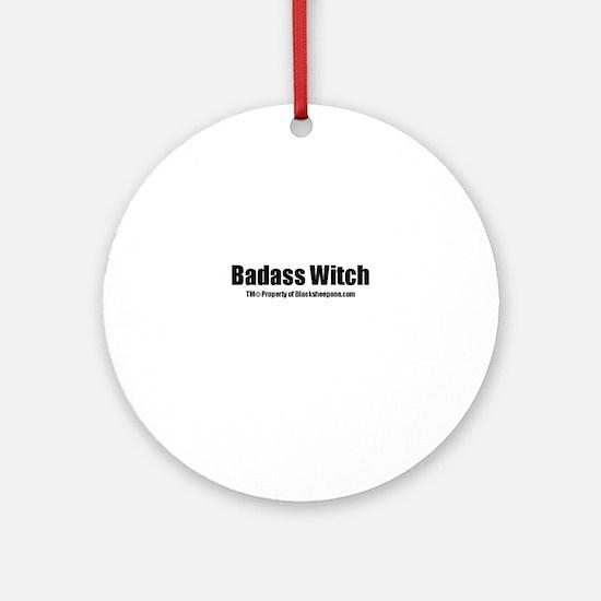 Badass Witch(TM) Ornament (Round)