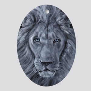 Bold Lion Ornament (Oval)