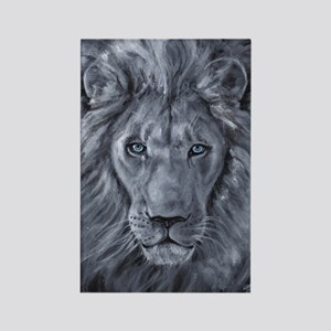 Bold Lion Rectangle Magnet