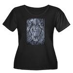 Bold Lion Women's Plus Size Scoop Neck Dark T-Shir