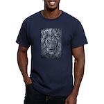 Bold Lion Men's Fitted T-Shirt (dark)