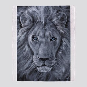 Bold Lion Throw Blanket