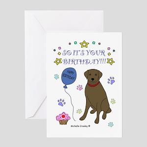 Chocolate Lab Greeting Card