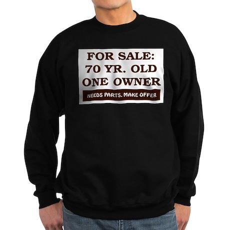 For Sale 70 Year Old Birthday Sweatshirt (dark)