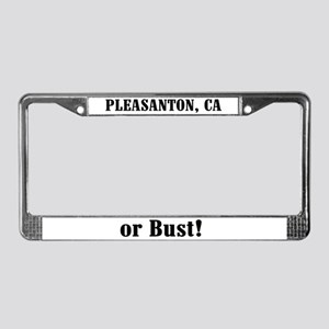 Pleasanton or Bust! License Plate Frame