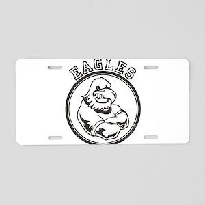 Eagles Team Mascot Graphic Aluminum License Plate