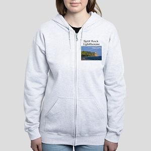 Split Rock Lighthouse Women's Zip Sweatshirt