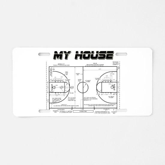 Basketball House Aluminum License Plate