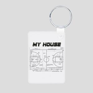 Basketball House Aluminum Photo Keychain