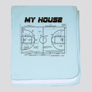Basketball House baby blanket