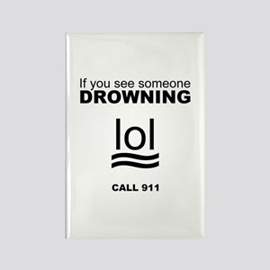 Drowning LOL Rectangle Magnet