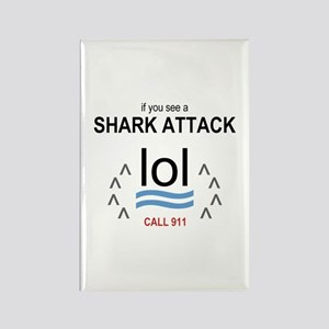 Shark Attack LOL Rectangle Magnet
