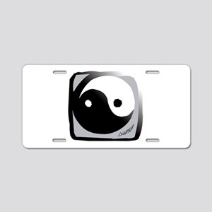 Yin and Yang Aluminum License Plate