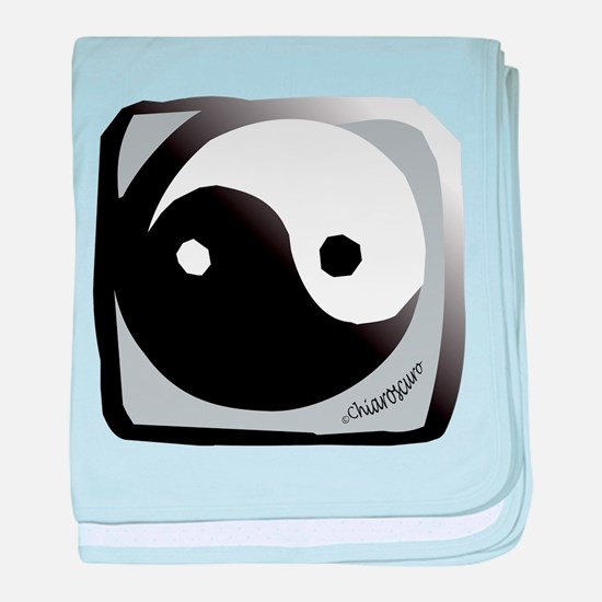 Yin and Yang baby blanket