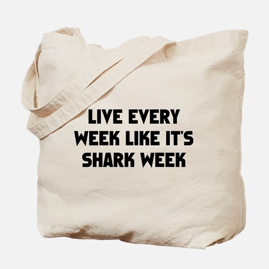 Live Shark Week Tote Bag