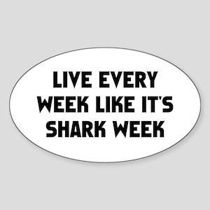 Live Shark Week Sticker (Oval)
