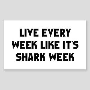 Live Shark Week Sticker (Rectangle)