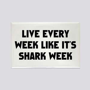 Live Shark Week Rectangle Magnet
