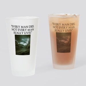 Manliness Drinking Glass
