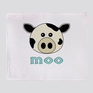 Animal Noises - Cow Moo Throw Blanket