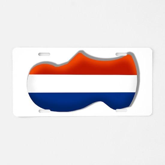 Dutch Clogs Aluminum License Plate
