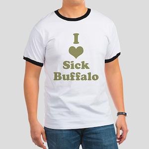 I Heart (Love) Sick Buffalo Ringer T
