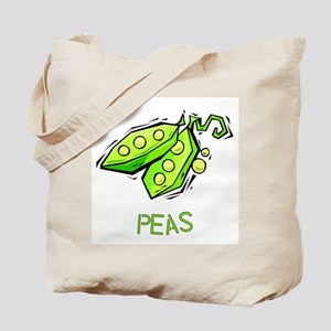 Twin Set -- Peas Tote Bag