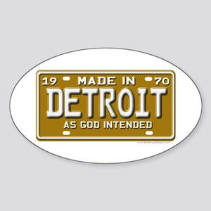 Made in Detroit Oval Sticker