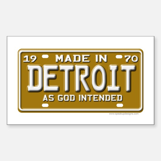 Made in Detroit Rectangle Decal